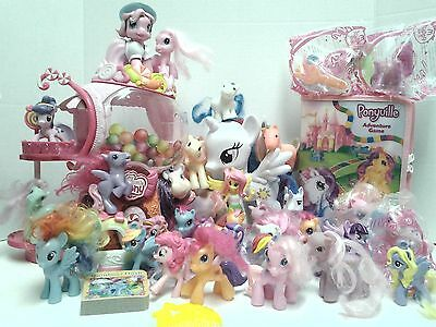 My Little Pony Ponyville Equestrian Game Book Figures Accessories  Car Huge Lot