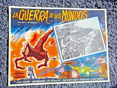 WAR OF THE WORLDS  Lobby Card Size 12x17 Inch Mexican -  Movie Poster H.G. WELLS