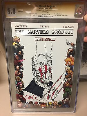 The Marvels Project #1 Signed & Sketched Steve McNiven CGC SS 9.8 Old Man Logan