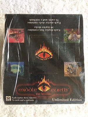 Lord of the Rings-MIDDLE EARTH-THE WIZARDS Factory Sealed Box 10 Starter Decks!
