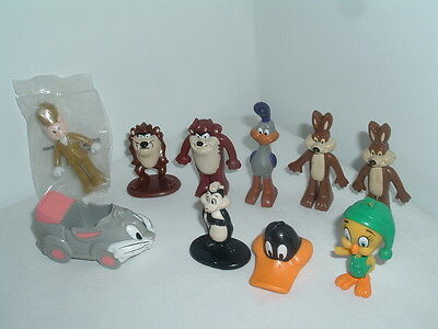 Vintage Arby's  Looney Toons Toys Bugs Bunny Road Runner Taz Coyote 1987 88 89