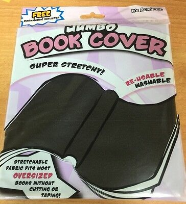 It's Academic Jumbo Book Cover Super Stretchy. Free Bookmarks Included. Black