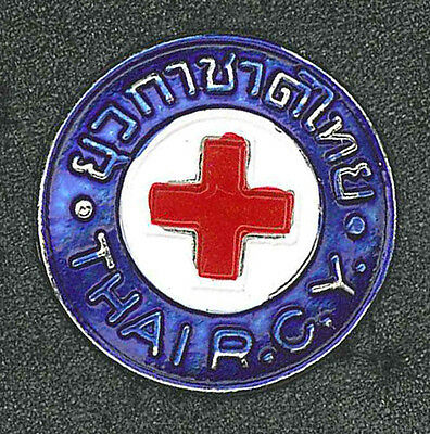 THAILAND RED CROSS SOCIETY - Official THAI R.C.Y. Metal Pin Patch