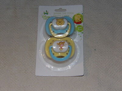 Disney Winnie the Pooh & Tigger Infant Baby 2 Pack Pacifiers BPA Free MIP