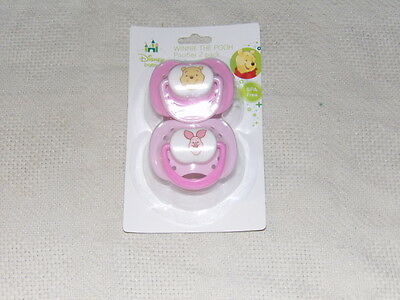 Disney Winnie the Pooh & Piglet Infant Baby 2 Pack Pacifiers BPA Free MIP