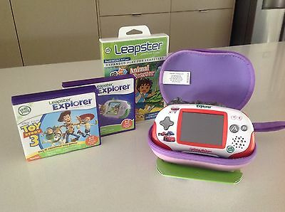 Leapster Explorer Console And 3 Games