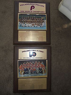 1980 Philadelphia Phillies World Series And1975 Flyers Stanley Cup Team Plaques
