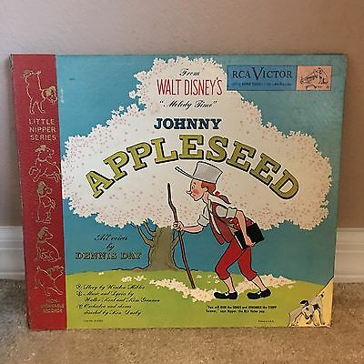 1949 JOHNNY APPLESEED STORY WITH RECORDS RCA Set Of 3 78s Vinyls Little Nipper