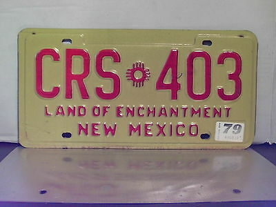 1979 New Mexico YOM License Plate Tag NM #CRS-403