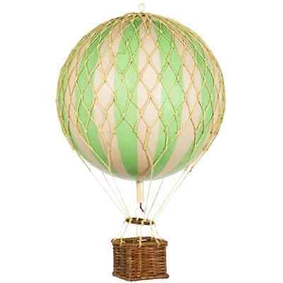 Floating the Skies Hot Air Balloon Replica Color Green Authentic Models Decor