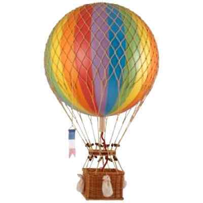 Floating the Skies Hot Air Balloon Color Rainbow Authentic Models Decor, New