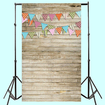 0.9x1.5M 3x5FT Wood Wall Flags Baby Photography Backdrop Background Studio
