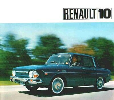 1967 Renault 10 Sales Literature  Box 50