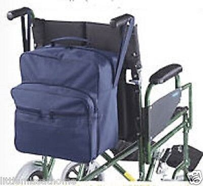 Waterproof Wheelchair Shopping Bag Mobility Scooter Back Carrier Storage Pockets