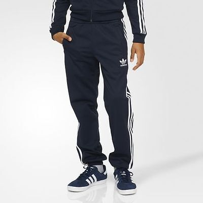 NWT Boy's adidas Originals Superstar Pants Navy Blue/White Small Large S96115