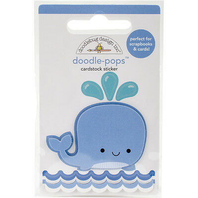 Doodlebug Doodle Pops 3D Stickers Wally Whale AA4973
