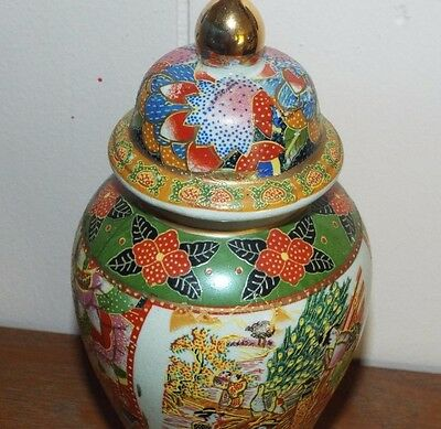 Asian Ginger Jar Vase Antique Famille Rose