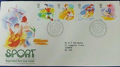 GB 1988 FDC Sport set on Royal Mail First Day Cover Wembley postmark