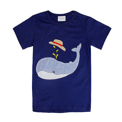 2015 New Lovely Dolphin Baby Children Boy Pure Cotton Short Sleeve T-shirt Top