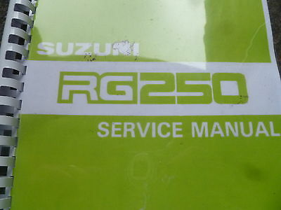 SUZUKI RG 250 H SERVICE MANUAL FOR: 1987 GAMMA GJ21B CH 209 PAGES workshop