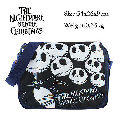 The Nightmare Before Christmas Jack Skellington Messenger Shoulder Bag SchoolBag