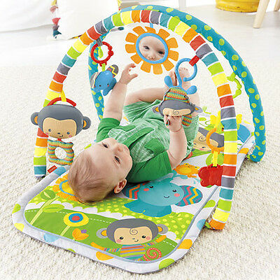 Fisher-Price SnugaMonkey Musical Play Gym 3 Stages  Play Mat