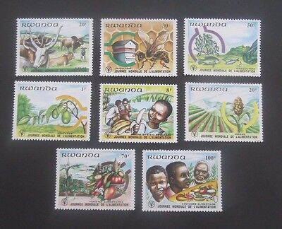 Rwanda-1982-World Food Day-Full set-MNH