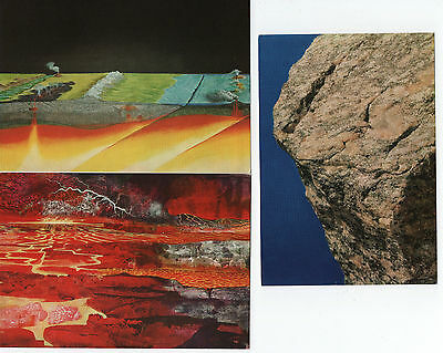 6 postcards from the Geological Museum 1970s