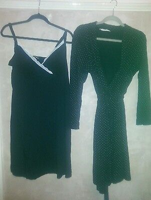 Maternity nursing night dress and dressing gown, blooming marvellous. Size m.