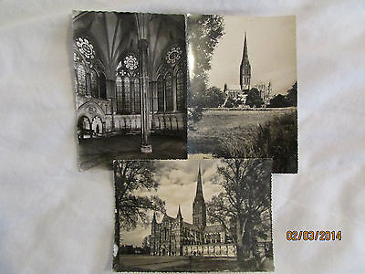 3 postcards of Salisbury Cathedral, Wiltshire