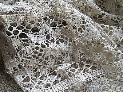 Antique/Vintage curtain lace Brugge from natural linen