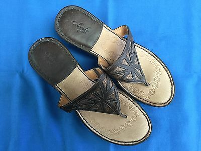 Colorado Opanka Brown Leather Thong Style Sandals - Size 10