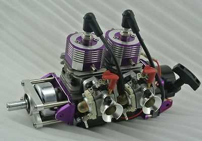 High Power Two-cylinder Gas Engine 58cc 7HP RC Marine Boat Ship Motor Watercraft