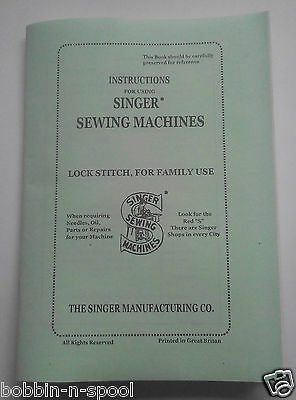 EXTENDED COMPREHENSIVE Singer 66,99K Sewing Machine instruction Manual/NoMachine