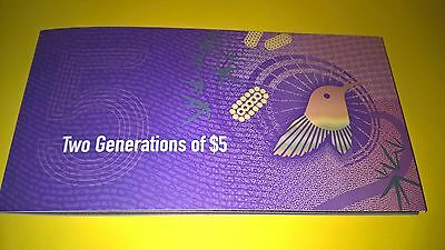 RARE 2016 Two Generations of $5 Note folder With First Prefix  BA15 854839