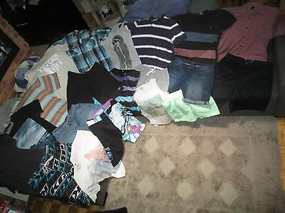 Bulk Lot Men's sz 34/Medium summer clothes: Oakley/Quicksilver/Effekt/Yd./Omm/SR