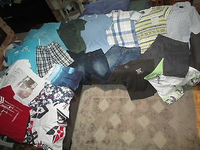 Bulk Lot Men's sz 34/Medium summer clothes: Country Road/Quicksilver/Levi's/RAW