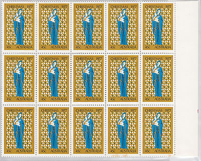 1977 45c Christmas block of 15 Stamps with selvedge , MNH