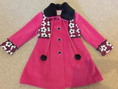 Girls Pink Coat Age 6-7 Years