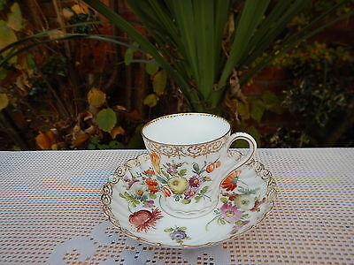 Antique Dresden cup and saucer