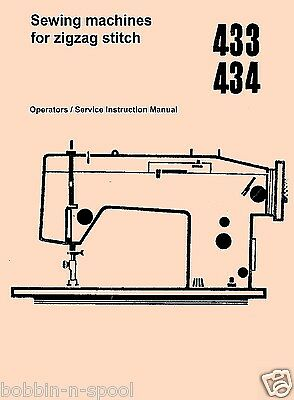 ARROW 433 & 434 Service/Operators Zigzag Sewing Machine Instructions manual
