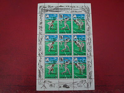 Jamaica - 1968 Cricket -  Minisheet - Unmounted Mint - Ex Condition
