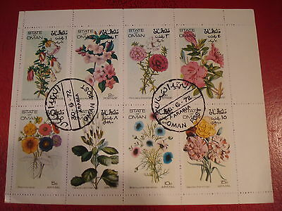 Oman - 1972 Flowers - Minisheet - Unmounted Used - Excellent Condition