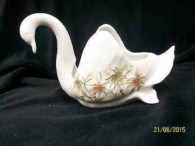 Ceramic Swan.from Bavaria . Ideal for Hat Pins or Pin Cushion