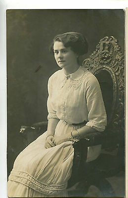 1920s Postcard Portrait of an unknown woman by an Ilfracombe studio