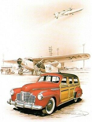 Affiche Poster Francois Bruere Buick Woody #2