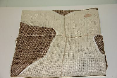 Pottery Barn Bunny Rabbit Burlap Flag Outdoor Happy Easter SOLD OUT NWT Linen
