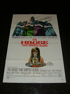 """THE HOUSE THAT DRIPPED BLOOD Original Movie Poster, 27"""" x 41"""", C7.5 Very Fine -"""