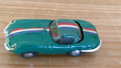 1960's Triang Minic Motorways M1559 E-Type Jaguar with Working Motor