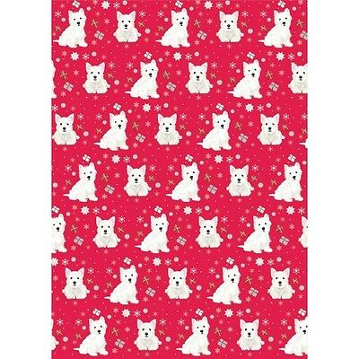 Westie Christmas Gift Wrap & Tags Pack of 6